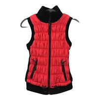 Calvin Klein Performance Women's Zip-Up Vest Bright Coral and Black Size S