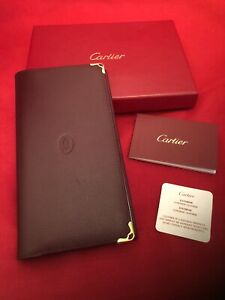Cartier Address, Credit Card and Note Jotter Wallet. Elegant And A Statement.