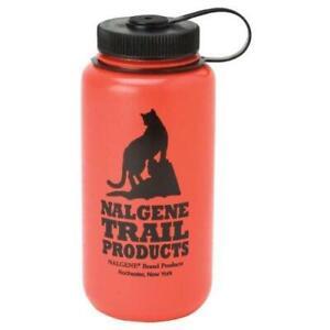 Nalgene HDPE 32oz Wide Mouth BPA-Free Water Bottle Red