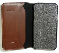 Platinum genuine quality Leather Folio Wallet Case for iPhone XR - Bourbon