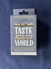 New ListingDisney Epcot 2020 Food & Wine Festival Mystery Pin 2 Random Pins In Box Unopened