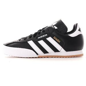 adidas Originals Mens Samba Super Leather Trainers Black and White