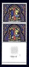 FRANCE - FRANCIA - 1966 - Vitrail de la Sainte-Chapelle Baptême de Judas MNH (E)