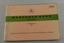 Catalogue Catalogue des Pièces Mercedes Benz Aileron W111 220 B Support 1959