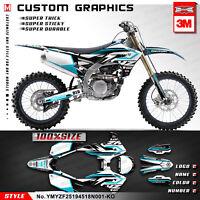 Kungfu Graphics MX Sticker Kit Vinyl Wrap for Yamaha YZ 450F 250F 2018 2019 2020