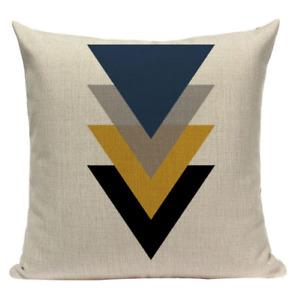 Yellow Triangle Pattern YG1 Cushion Pillow Cover European Design Stylish Modern