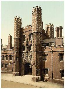 Cambridge St. John's Gateway photochrome print ca. 1890