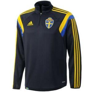 MEN SWEDEN NATIONAL 2013/14 SWEATSHIRT TRAINING TOP SOCCER FOOTBALL SHIRT SIZE M