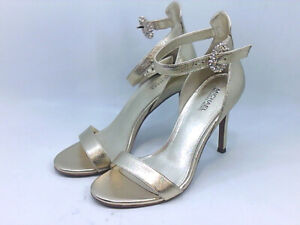 Michael Michael Kors Womens viola Leather Peep Toe Casual, Pale Gold, Size 5.0 k