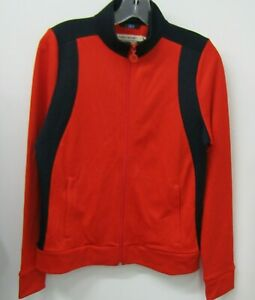 Tory Sport Color Block Track Jacket Size S Red & Navy