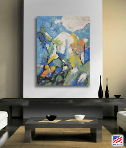 Hungryartist - Large contemporary abstract oil painting wrapped ready to hang