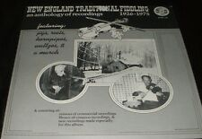 NEW ENGLAND TRADITIONAL FIDDLING 1926 - 1975 Anthology LP with Booklet