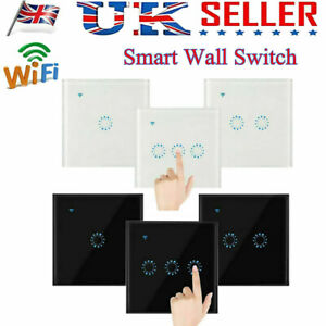WIFI Smart WiFi Wall Panel LED Light Touch Dimmer Switch Voice Remote Control
