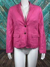 J. Crew Women's Classic Schoolboy Blazer 6 Pink 2Button Lined Long Sleeve Career