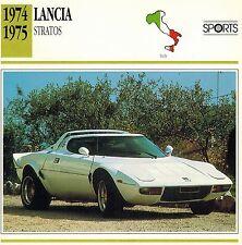 "LANCIA 1974-1975 ""STRATOS"" ADVERTISING BROCHURE"