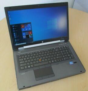 "HP 8560W 15.6"" i7-2860QM 16GB 256GB SSD AMD FirePro M5950 1GB 1920X1080 Win10"
