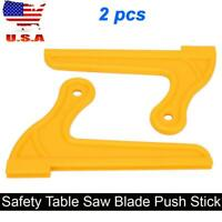 2 pcs Plastic Router Table Saw Blade Safety Push Stick Woodworking Tool Set USA