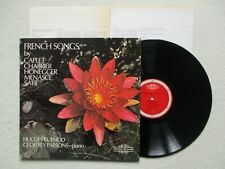 "LP 33T CAPLET / CHABRIER / HONEGGER / SATIE ""French songs"" QUADRA -NIMBUS 2112 §"