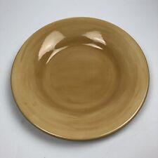 "Pottery Barn Dinner 12"" Plate Sausalito Round Microwave Dishwasher Safe Mustard"