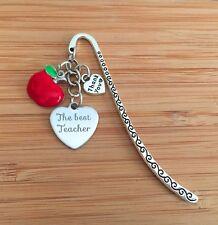Thank You Teacher Gift Apple Charm Bookmark  ~ Gift for Teacher