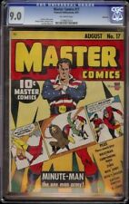 Masters Comics # 17 CGC 9.0 Off-White (Fawcett, 1941) Rockford pedigree