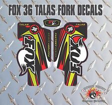 Fox 36 FORK Talas Adesivi Decalcomanie Grafiche mountain bike Down Hill MTB Rosso
