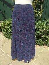 Stunning Tiered Maxi Skirt 12-14 Limited Collection M&S Turquoise Purple Pink