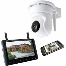 Digital Wireless Pan Tilt CCTV KIT FOTOCAMERA CON MONITOR LCD & accesso mobile