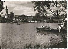 Ansichtskarte Seebruck am Chiemsee - Partie am Ufer - schwarz/weiß