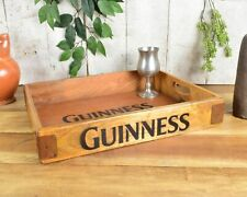 Display Wood Irish Guinness Serving Tray Crate Box Bar Sign Cocktail Storage