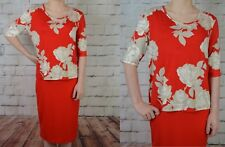 NEW NEXT UK 18 LADIES RED FLORAL DRESS