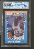1990-91 Michael Jordan Fleer All-Star #5 Gem Mint 10 Chicago Bulls HOF