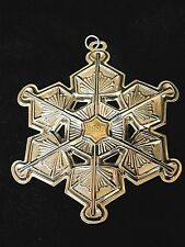 Gorham 1987 Christmas Ornament Sterling Silver Snowflake with Box