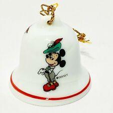 Mickey Mouse Miniature Bell Shaped Ornament Reutter Porzellan W Germany