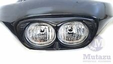 Vivid Black Mutazu Bad Boy For Harley Road Glide Roadglide Headlight Bezel FLTR