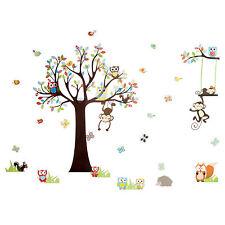 markenlose kinderzimmer-wandtattoos & -wandbilder mit tier-thema ... - Kinderzimmer Deko Tiere