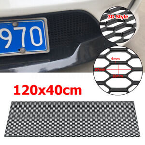 "47"" x 16"" Racing Honeycomb Bumper Vent Tuning Grill Mesh Spoiler ABS Plastic Net"