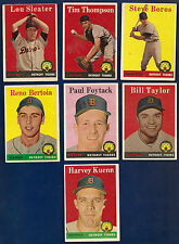 1958 Topps Lot of 9 Tigers #46 57 81 232 282 389 434 Dodgers 203 435 1959 #16 43