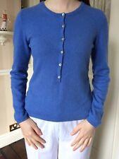 Denner Mongolian Cashmere  Blue Jumper Size Small  8/10/12..