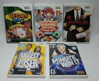Nintendo Wii Pop Culture Games: Cooking Mama, Biggest Loser, Minute To Win It ..