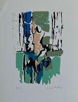Kallos Paul lithographie originale signée art abstrait abstraction Budapest Loeb