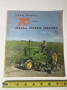 Original 1955 John Deere Series 70 Tractor Sales Brochure antique farm Booklet