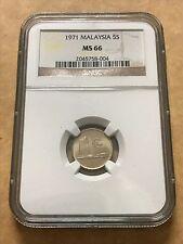 Malaysia 5 Sen 1971 Parliament coins NGC MS66