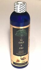 8 OZ EMU OIL +24 K GOLD INFUSED ORGANIC TRIPLE REFINED NATURAL PURE SKIN HEALTH
