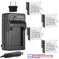 Kastar Battery Travel Charger Replace Genuine Gopro AHDBT-501 Hero 5 HD Black