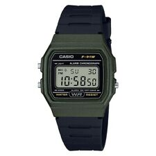 Casio Classic Digital LCD Watch with Stopwatch, Alarm, Timer etc. F-91WM-3AEF