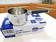 NEW Royal Prestige 1/2 Quart Milk Butter Warmer Pot 5 PLY T304 Stainless Steel