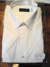 Cotton Blend Short Sleeve Double TWO Formal Shirts for Men