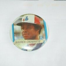 Montreal Expos Warren Cromartie MLB  Pin Back Button 1970's 80's 2 1/2  in.
