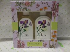 Crabtree & Evelyn IRIS Set Shower Gel & Lotion 8.5 Fl Oz